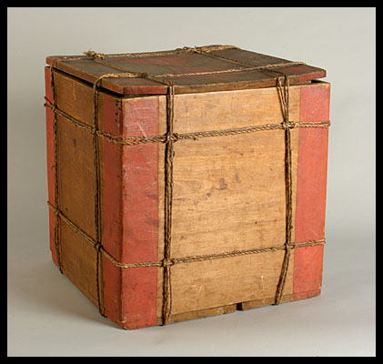 Native American Storage Box with Original Decoration